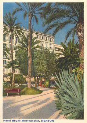 """/ CPSM FRANCE 06 """"Menton, hôtel Royal Westminster"""""""