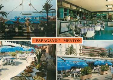 "/ CPSM FRANCE 06 ""Menton, restaurant Papagayo"""