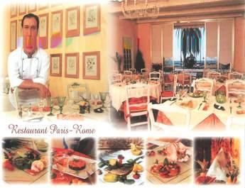 """/ CPSM FRANCE 06 """"Menton, restaurant Paris Rome"""""""