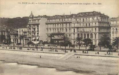 """/ CPA FRANCE 06 """"Nice, l'hôtel de Luxembourg et la promenade des anglais"""""""