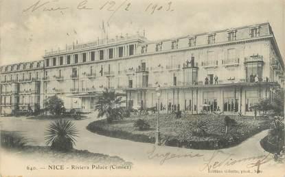 """/ CPA FRANCE 06 """"Nice, l'hôtel Riviera Palace"""""""