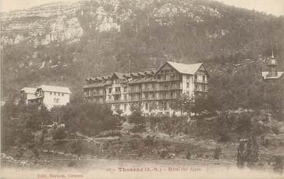 "/ CPA FRANCE 06 ""Thorenc; hôtel des Alpes"""