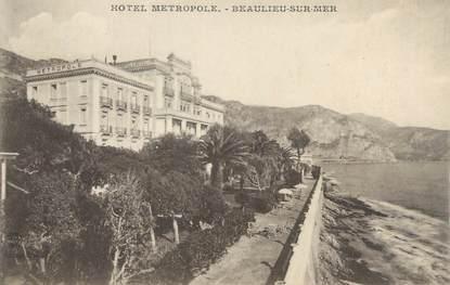 """/ CPA FRANCE 06 """"Beaulieu sur Mer, hôtel Métropole"""""""