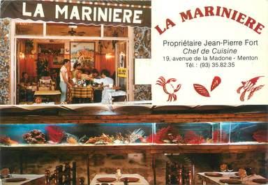 """/ CPSM FRANCE 06 """"Menton, Restaurant la Marinière"""""""