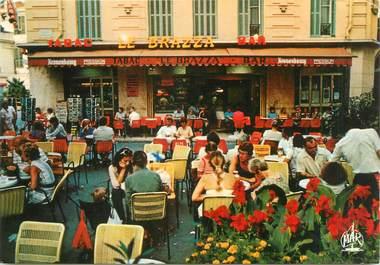 "/ CPSM FRANCE 06 ""Menton, bar tabac le Brazza"""