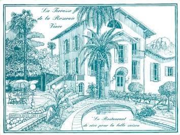 """/ CPSM FRANCE 06 """"Vence, restaurant de la Roseraie"""""""