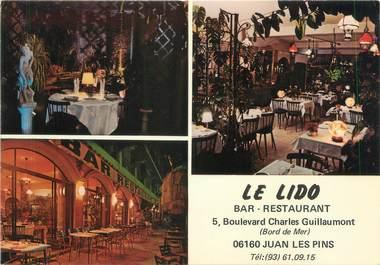 """/ CPSM FRANCE 06 """"Juan Les Pins, Bar restaurant Le Lido"""""""