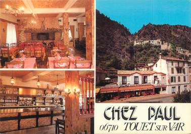 """/ CPSM FRANCE """"Touet sur Var, hôtel restaurant chez Paul"""""""
