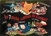 """Theme CPSM CAMPING """"Les 7 Péchés capitaux du campeur"""""""