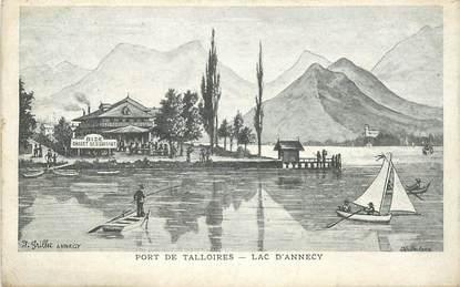 """CPA FRANCE 74 """"Lac d'Annecy, Port de Talloires"""""""