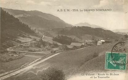"""CPA FRANCE 74 """"Le Villaret, rte de Saint Jean et la Tournette"""""""