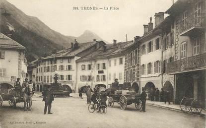 """CPA FRANCE 74 """"Thones, la place"""""""