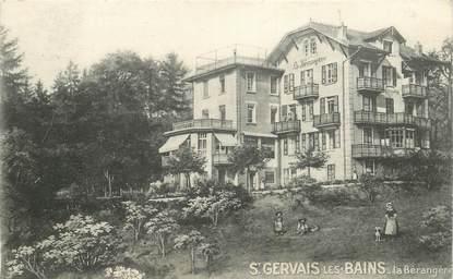 """CPA FRANCE 74 """"Saint Gervais les Bains, La Bérangère"""""""