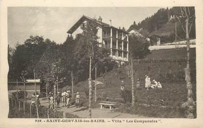 "CPA FRANCE 74 ""Saint Gervais les Bains, Villa Les Campanules"""