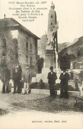 "CPSM FRANCE 74 ""Sixt, monument aux morts"""