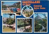 """04 Alpe De Haute Provence CPSM FRANCE 04 """"Castellane, camping Notre Dame"""""""