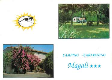 """CPSM FRANCE 06 """"Saint Laurent du Var, camping Magali"""""""