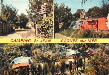 "CPSM FRANCE 06 ""Cagnes sur Mer, camping Saint Jean"""