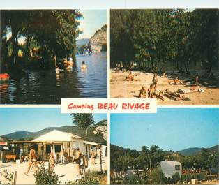 """CPSM FRANCE 07 """"Vallon Pont d'Arc, camping Beau Rivage"""""""