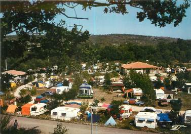 "CPSM FRANCE 07 ""Vogues, camping du domaine du Cros d'Auzon"""