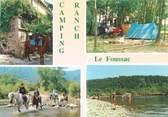 """07 Ardeche CPSM FRANCE 07 """"Les Vans, camping Ranch Le Foussac"""""""