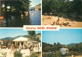"07 Ardeche CPSM FRANCE 07 ""Vallon Pont d'Arc, camping Beau Rivage """