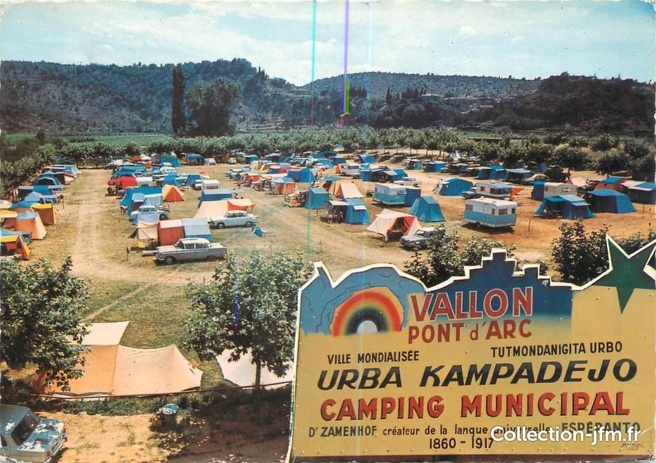 Cpsm france 07 vallon pont d 39 arc le camping municipal 07 ardeche autres communes 07 - Camping vallon pont d arc piscine ...