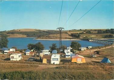 """CPSM FRANCE 12 """"Salles Curan, le lac Pareloup, camping du pont de la Cleta"""""""