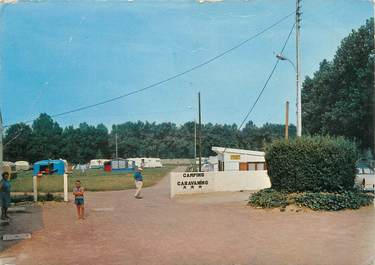 "CPSM FRANCE 14 ""Luc sur Mer, le camping caravaning"""