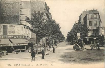 """CPA FRANCE 75020 """"Paris, rue Ordener"""""""