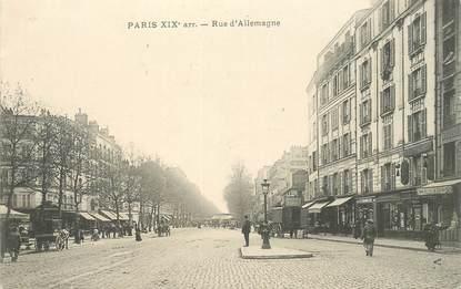 """CPA FRANCE 75019 """"Paris, Rue d'Allemagne"""""""