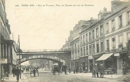 "CPA FRANCE 75019 ""Paris, rue de Flandre"""