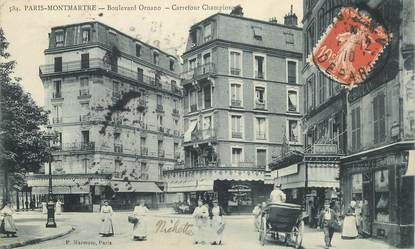 "CPA FRANCE 75018 ""Paris, Bld Ornano, Carrefour Championne"""