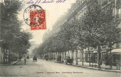 """CPA FRANCE 75017 """"Paris, avenue Niel, carrefour Demours"""""""