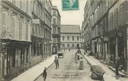 """CPA FRANCE 75017 """"Paris, rue Saint Jean"""""""