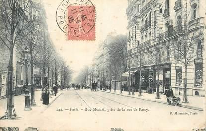 "CPA FRANCE 75016 ""Rue Mozart prise de la rue de Passy"""