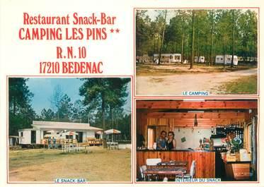 "CPSM FRANCE 17 ""Bedenac, camping Les Pins"""