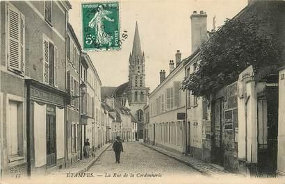 """CPA FRANCE 91 """"Etampes, la rue de la Cordonnerie"""""""
