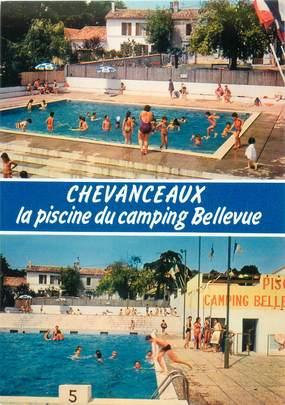 """CPSM FRANCE 17 """"Chevanceaux, la piscine du camping"""""""