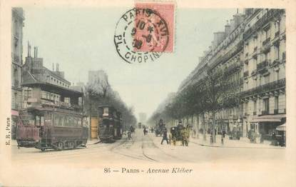 "CPA FRANCE 75016 ""Paris, avenue Kléber"""