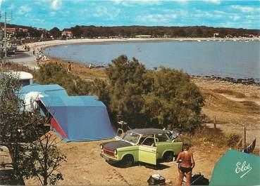"""CPSM FRANCE 17 """"Fouras, la plage Nord, et camping Le Cadoret"""" / AUTOMOBILE"""