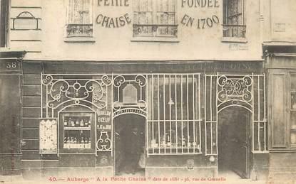 """CPA FRANCE 75015 """"Paris, Auberge A la Petite Chaise"""""""