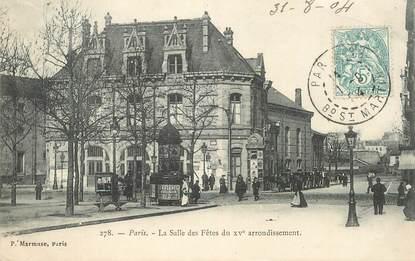 """CPA FRANCE 75015 """"Paris, La salle des Fêtes"""""""
