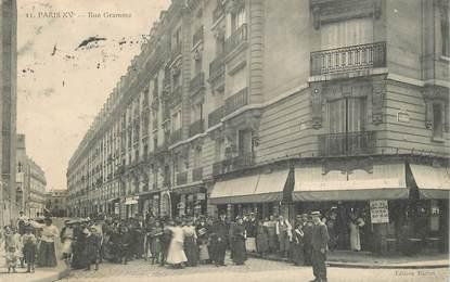 """CPA FRANCE 75015 """"Paris, rue Gramme"""""""