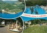 """19 Correze CPSM FRANCE 19 """"Argentat, le camping château Le Gibanel"""""""
