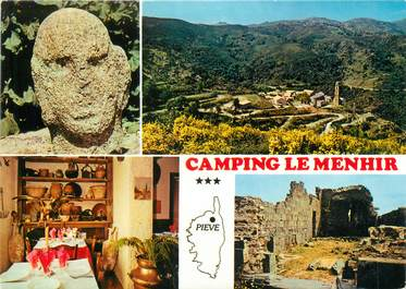 """CPSM FRANCE 20 """"Corse, Piève, camping Le Menhir"""""""