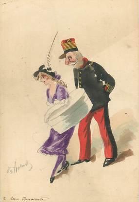 """CPA ILLUSTRATEUR / DESSIN ORIGINAL DE  ROBERTY """"Femme et chapeau"""""""