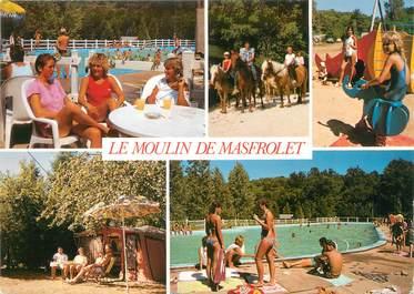 """CPSM FRANCE 24 """"Nontron, camping le moulin de Masfrolet"""""""