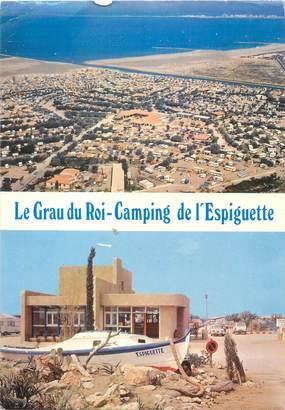"""CPSM FRANCE 30 """"Le Grau du Roi, camping de l'Espiguette"""""""