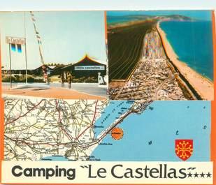 """/ CPSM FRANCE 34 """"Sète, camping Le Castellas"""""""